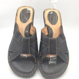 NEW Born Espresso Brown Leather Sandals